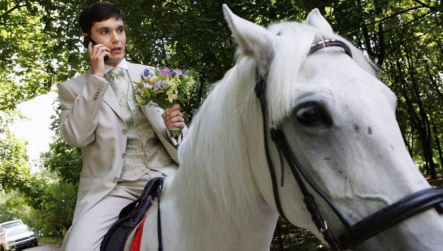 Sur un cheval blanc